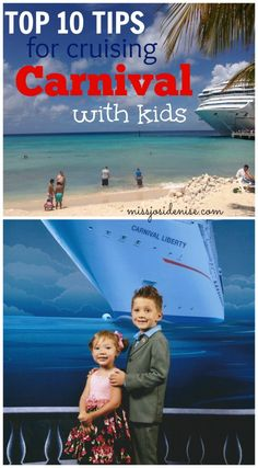 MUST READ Top 10 Cruise Tips for Family Vacations and Cruising with Kids - Includes Cruise Packing Tips, Cruise Planning Tips, Carnival Cruise Line Tips, and Cruise Family Photo Advice!