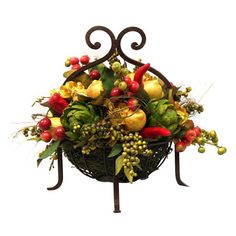 I pinned this Silk Fruit & Chili Pepper Arrangement from the Provencal Garden event at Joss and Main!