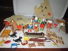 Lot Vintage Playmobil American Indians Native by suburbantreasure