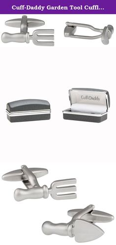 Cuff-Daddy Garden Tool Cufflinks. Unique garden tool cufflinks set in a silver-tone. Conservative enough for the office, but far from boring. This is the perfect pair of cufflinks for the true gardening enthusiast. Each cufflink is a miniature replica of a tool and a BIG conversation piece. Pair with any classic shirt and pull out similar or complementary hues in a shirt or tie. Each pair is finished by hand to ensure a quality, lasting pair. Nice lightweight makes it suitable for both...