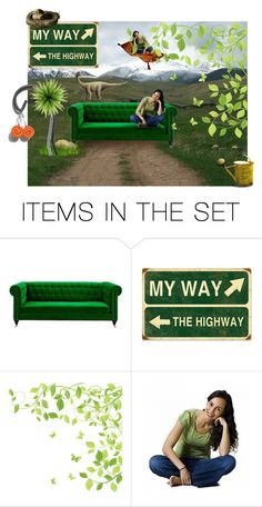 """""""Green is my way"""" by canisartstudio ❤ liked on Polyvore featuring art"""