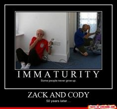 Zack And Cody 50 years later... lol