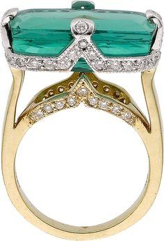 Estate Jewelry:Rings, Tourmaline, Diamond, Gold Ring. ...HT