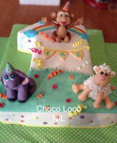 Birthday cake-animals