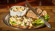 Švédská vajíčková pomazánka Muesli, What To Cook, Potato Salad, Appetizers, Potatoes, Vegetarian, Treats, Chicken, Cooking