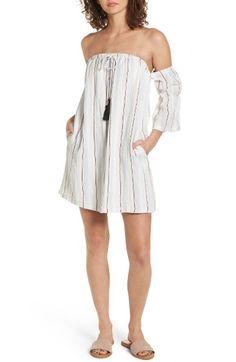 Lush Stripe Off the Shoulder Dress