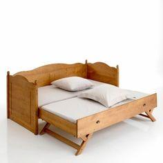 Superbe lit gigogne guest bedroom pinterest for Bureau qui se transforme en lit