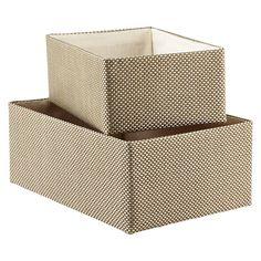 "Sage & Silver Kiva Bins.  Medium Kiva Bin Sage & Silver 9-3/4"" x 15"" x 6"" h.  $12.99 ea."