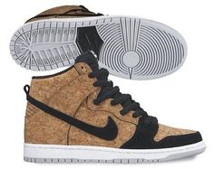 "brand new 0113e ed54f Rumored to release on June this Nike SB Dunk High ""Cork"" features cork on  most of the upper with black suede wrapping the toe and ."