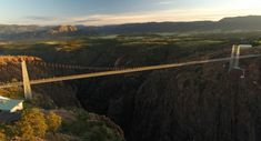Looking for Places to See in Southern Colorado with your family and friends? Visit Colorado's Top Attraction, The Royal Gorge Bridge! Colorado Springs Attractions, Royal Gorge, Visit Colorado, Suspension Bridge, Summer Winter, Golden Gate Bridge, Places To See, Scenery, Bucket