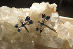 A personal favorite from my Etsy shop https://www.etsy.com/listing/219288348/dragonfly-sapphire-sterling-silver