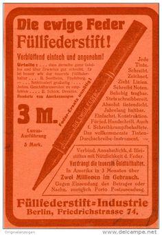 Original-Werbung/Inserat/ Anzeige 1912 - DIE EWIGE FEDER-FÜLLFEDERSTIFT ca. 130 X 90 mm