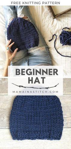 Perfect Beginner Knit Hat Free Pattern This free knitting patt. Perfect Beginner Knit Hat Free Pattern This free knitting pattern will create a h Crochet Minecraft, Knit Crochet, Crochet Hats, Free Crochet, Beginner Crochet, Mandala Crochet, Crochet Leg Warmers, Crochet Humor, Crochet Edgings