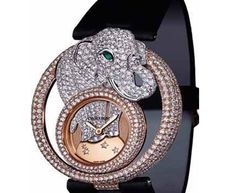 The Cartier Cirque Animalier Elephant Watch is a piece belonging to the original 2008 debut collection depicting Asian animals in the series. $156,600 @Jamie Young this is sooooo you!