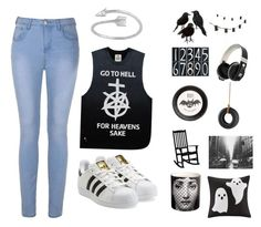 A fashion look from November 2015 featuring crew neck top, blue jeggings and white trainers. Browse and shop related looks. Unif, Dot And Bo, Crate And Barrel, High Waist Jeans, Jeggings, Adidas Originals, Fashion Looks, Shoe Bag, Park