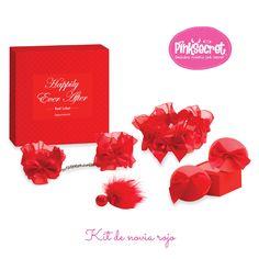 Kit de novia rojo, sorprendelo! #seduccion #pinksecret #lovestore  tienda.pinksecretonline.com