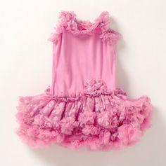 GiGi Sparkle Tutu Dress Ruched Ruffle Trim - Girls' Easter Dresses - Events
