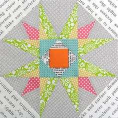 Red Pepper Quilts: Paper Piecing - Part 1 - New Mexico Star, from the book (which comes with cd) Carol Doak's Simply Sensational 9 patch stars