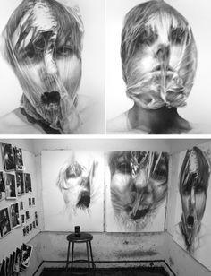 fun with hair History Of Photography, Photography Projects, Art Alevel, Dark Portrait, Plastic Art, Identity Art, A Level Art, Gcse Art, Land Art