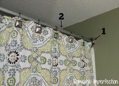 DIY shower curtain rod