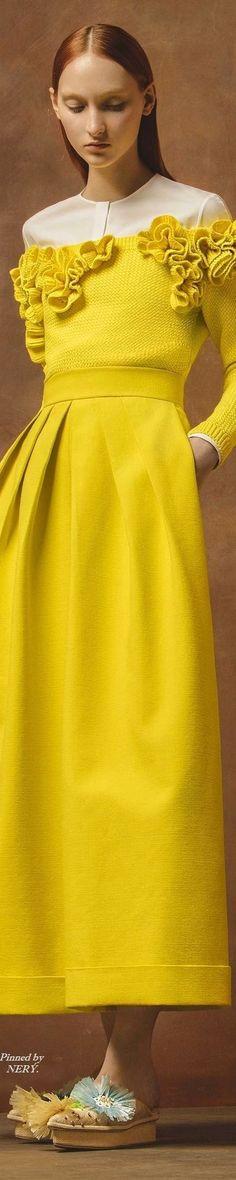 Delpozo Resort 2017 -- See more yellows here: www.bandjfabrics.com/search/node/yellow