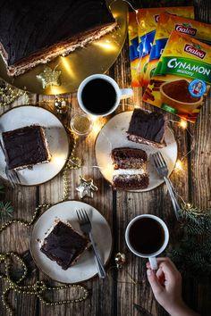 Ciasto z kremem na boze narodzenie Dessert Recipes, Desserts, Chocolate Fondue, Eat, Food, Drinks, Drinking, Meal, Beverages
