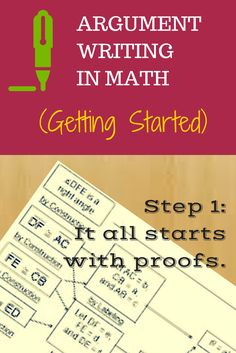evangelizing the (digital) natives : Argument Writing in Math: Getting Started #edchat #writing #ccss