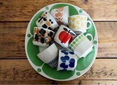 Vintage Arabia cups Tablewares, Retro Home, Marimekko, Finland, Design Art, Scandinavian, Ceramics, Kitchen, Vintage