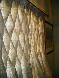 DIY Curtain Ideas | Burlap Smocked Curtains | DIY Home Ideas