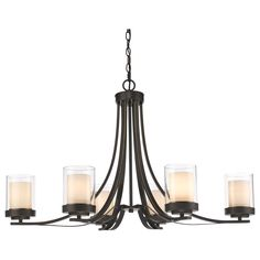 Crafted in straight lines and a combination of traditional and contemporary style that defines the Willow collection, this simple 6 light chandelier design will provide your home with light and impeccable taste.