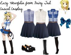 Lucy Hearfilia from Fairy Tail Casual Cosplay