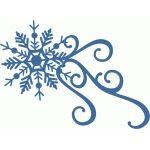 snowflake flourish burst