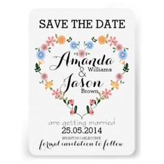 Rustikales Blumenherz das Save the Date Wedding