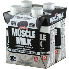 CytoSport Muscle Milk RTD Cookies 'N Creme 11oz 3 4 pk 12 ct | Regular Price: $43.99, Sale Price: $28.62 | #onSale  | Muscle MilkProtein Nutrtion ShakeContains No Milk Includes Milk Proteins 170 Calories 20g Protein Lactose Free These statements have not been evaluated by the FDA This product is not intended to diagnose treat cure or prevent any disease