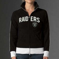 Oakland Raiders Womens Tennis Track Jacket