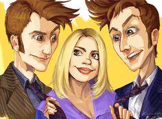 Doctors and Rose by ~kissyushka on deviantART #doctorwho #rosetyler