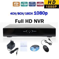 4Channel 8ch 16ch Full HD 1080P IP NVR DVR Network Security Surveillance Video Recorder P2P Onvif SPSR for CCTV IP Camera System #women, #men, #hats, #watches, #belts, #fashion