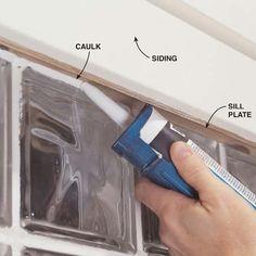 Installing Glass Block Windows in Basement: | The Family Handyman Damp Basement, Basement Steps, Old Basement, Basement Remodel Diy, Basement Walls, Basement Bedrooms, Basement Renovations, Basement Waterproofing, Garage Remodel