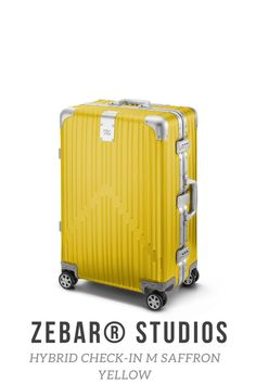 Two of the most advanced materials in the world elegantly combined: The ZEBAR Hybrid Check-in M in SAFFRON YELLOW combines the resistance of our unique aluminum-magnesium alloy with the high quality of the light material polycarbonate with the help of German technology, making it the ideal companion for a whole life traveling. Highly functional and perfectly suited as checked baggage: the comfortable, medium-sized trolley offers you plenty of storage space for trips of up to 5 days. Air France, Business Trolley, Dynamic Design, Baggage, Storage Spaces, Suitcase, The Originals, Beige