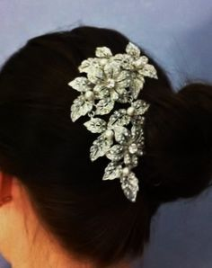Vintage Bridal Hair Comb Statement Crystal Wedding by JamJewels1, $85.00