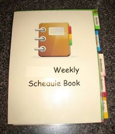 """Great ideas from the blog """"What's in the Box?""""  about how to plan/implement the workbox system weekly.  Including a DIY: how to make your own Workbox Weekly Schedule book."""