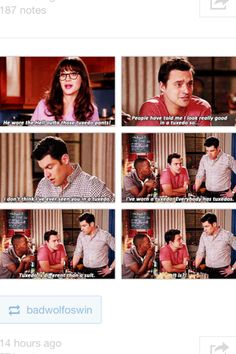 """It is?!?"" Haha Nick Miller"