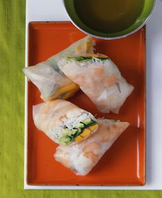 Mango Shrimp Summer Rolls by Gourmet via epicurious.com #Shrimp_Rolls #Spring_Rolls #Gourmet #epicurious_com