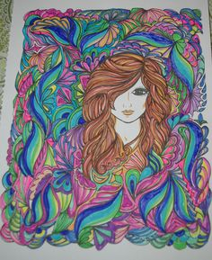 CC Use It Only Once Fantasy Face Adult ColoringColoring BooksColouringBook ProjectsA ColorCreative