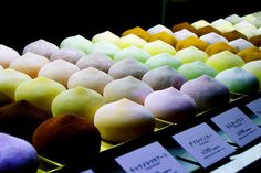 thenommables: Day Mochi Cream (by liljetjennie) (via gastronomyfiles) Japanese Pastries, Japanese Dishes, Japanese Sweets, Japanese Food, Japanese Candy, Yummy Treats, Delicious Desserts, Yummy Food, Yummy Yummy