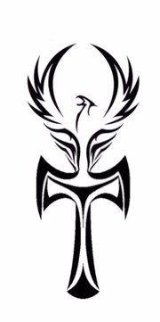 A tattoo I put together. An Ankh and Phoenix