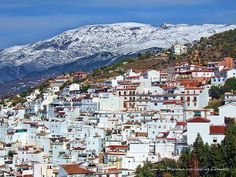 Snow on Maroma overlooking Competa