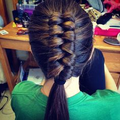 21 best My Hairstyles images on Pinterest   Braid hairstyles     Dutch infinity braid