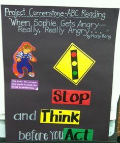 """www.projectcornerstone.org Sample poster to go with the lesson """"When Sophie Gets…"""