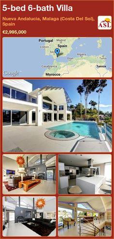 5-bed 6-bath Villa in Nueva Andalucia, Malaga (Costa Del Sol), Spain ►€2,995,000 #PropertyForSaleInSpain